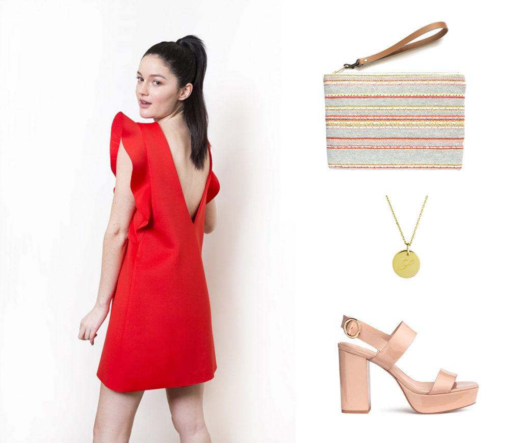 nos idées tenues pour l'été: Robe ELO// Pochette Issi Bâ // Collier 4 Crosses // Chaussure H&M