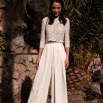 Pantalon large taille haute cérémonie de mariage